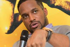 Ato Boldon meeting the press in Barcelona (Philippe Fitte)