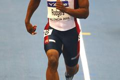 USA's Mike Rodgers was the fastest in the heats of the men's 60m (Getty Images)