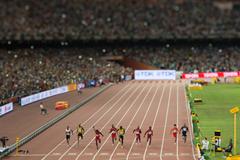 Day 2 (23/08/2015) Usain Bolt, men's100m final. EOS-1D X + TS-E90mm F2.8 F4.0, 1/2000sec, ISO4000 (Takashi Okui)