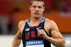 World Decathlon champion Trey Hardee competes in the 60m in the men's heptathlon in Doha (Getty Images)