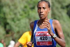 Zeytuna Areb on te way to victory at the Hawassa Half Marathon (Organisers)
