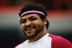 Reese Hoffa of USA during the men's Shot Put final (Getty Images)