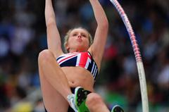 Bronze medal winner Lucy BRYAN of Great Britain in action in the Girls Pole Vault final - Day Four - WYC Lille 2011 (Getty Images)
