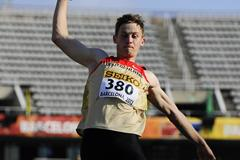 Stephan Hartmann of Germany competes during the Men's Long Jump qualification round on the day one of the 14th IAAF World Junior Championships in Barcelona on 10 July 2012 (Getty Images )