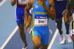 Chris Brown of the Bahamas in the men's 400m (Getty Images)