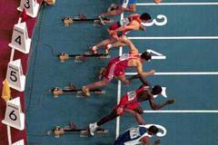 Lisbon 2001 Men's 60m hurdles (© Allsport)