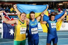 The boys' hammer medallists at the IAAF World Youth Championships, Cali 2015 (Getty Images)