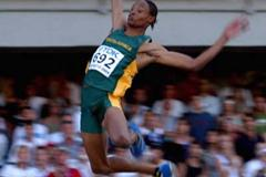 Godfrey Khotso Mokoena of South Africa wins silver in the Long Jump (Getty Images)