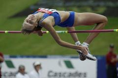 Iryna Kovalenko of Ukraine wins the High Jump in Sherbrooke (Getty Images)