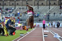 Caterine Ibarguen at the 2013 IAAF Diamond League meeting in Stockholm (Anders and Hasse Sjogren)