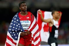 Trayvon Bromell after taking World Championship bronze ()