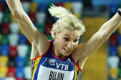 Cristina Bujin of Romania competes in the Women's Triple Jump qualification during day one - WIC Istanbul  (Getty Images)
