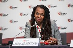 IAAF Council Member Stephanie Hightower (Philippe Fitte)