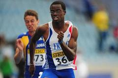 Michael-Meba Zeze of France in action during the 100m qualification day one - WYC Lille 6 July 2011 (Getty Images)