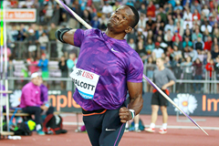 Keshorn Walcott in the javelin at the IAAF Diamond League meeting in Lausanne (Victah Sailer)