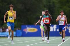 Johan Rogestedt of Sweden on his way to winning the 800m final (Getty Images)