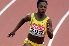 Veronica Campbell of Jamaica in the heats of the 200m (Getty Images)