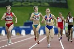 Maria Chapaeva of Russia in action in the 800m semi finals (Getty Images)
