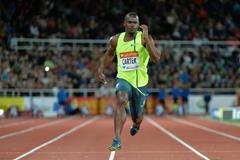 Nesta Carter at the 2014 IAAF Diamond League meeting in Stockholm (DECA Text & Bild)