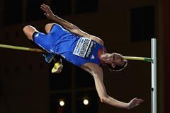 High jump winner Bogdan Bondarenko at the IAAF Continental Cup, Marrakech 2014 (Getty Images)