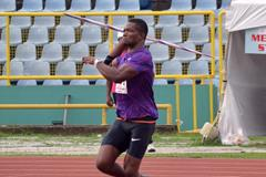 Keshorn Walcott at the 2015 Trinidad and Tobago Championships (Curtis Chase/Trinidad Express)