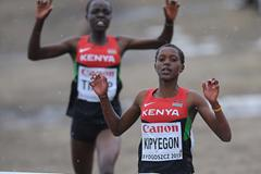 Faith Chepngetich Kipyegon (KEN) wins the junior women's race at the 40th edition of the IAAF World Cross Country Championships, Bydgoszcz, Poland, Sunday 24 March (Getty Images)