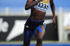 Desiree Henry of Great Britain in action during the Girls 400 metres Hurdles - Day Four - WYC Lille 2011 (Getty Images)