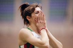 Khristina Khalcheva (BUL) in action at the IAAF World Indoor Championships (Getty Images)