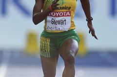 Jamaica's Kerron Stewart glides to victory in the women's 100m quarter-final in Berlin (Getty Images)