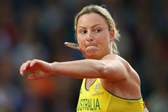 Kim Mickle on her way to javelin gold at the Commonwealth Games (Getty Images)