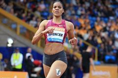 Kaliese Spencer at the 2014 IAAF Diamond League meeting in Birmingham (Jean-Pierre Durand)