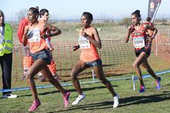 Leaders in the senior women's race at the 2015 Cross Internacional de Atapuerca (Organisers)