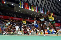 Veronica Campbell-Brown of Jamaica takes 60m gold in Doha (Getty Images)