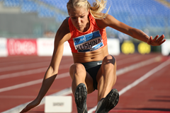 Long jump winner Darya Klishina at the IAAF Diamond League meeting in Rome (Gladys von der Laage)