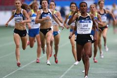 Maryam Yusuf Jamal takes a decisive victory in the women's 1500m (Getty Images)