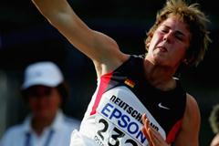 Sophie Kleeberg of Germany wins the bronze medal in the Shot Put final (Getty Images)