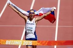 Matej Toth wins the 50km race walk at the IAAF World Championships, Beijing 2015 (Getty Images)