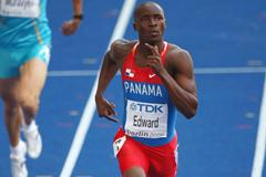 Panama's Alonso Edward wins his heat of the men's 200m heats in Berlin (Getty Images)