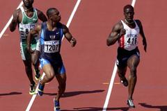 100m Semi Finals - Bernard Williams (© Allsport)