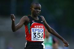 Mercy Cherono of Kenya wins the 3000m final (Getty Images)