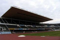 Newly completed back straight stand roof at the Helsinki Olympic stadium (SUL)