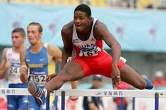 Yordanis Garcia of Cuba competes in the 110m Hurdles of the men's Decathlon at the 2006 World Junior Championships (Getty Images)