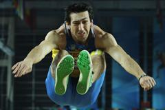 Oleksiy Kasyanov of Ukraine competes in the Men's Long Jump in the Heptathlon during day one - WIC Istanbul (Getty Images)