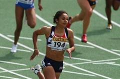 Jodie Williams of Great Britain in the first round of the 200m (Getty Images)