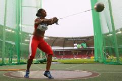Cuba's Yipsi Moreno, winner of the women's hammer throw (Getty Images)