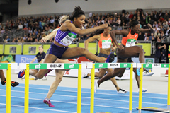 Keni Harrison at the 2016 Indoor Meeting Karlsruhe (Jean-Pierre Durand)