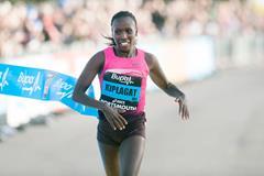 Florence Kiplagat, winner of the 2013 Great South Run (Peter Langdown)