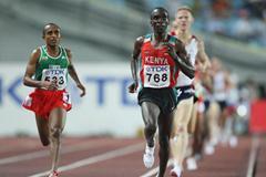 Eliud Kipchoge of Kenya in the men's 5000m heats (Getty Images)