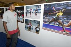 David Oliver in Shanghai ahead of the 2014 IAAF Diamond League meeting (Errol Anderson)