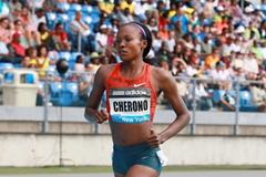 Mercy Cherono at the 2014 IAAF Diamond League meeting in New York (Victah Sailer)